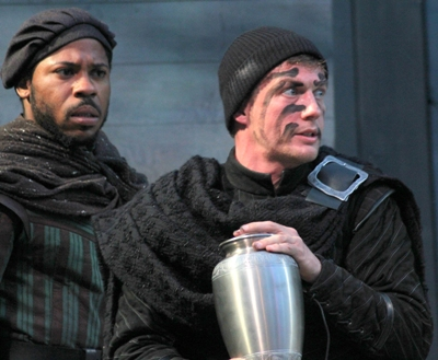 Ro Boddie as Horatio and Matt Schwader in title role of 'Hamlet' at American Players Theatre 2013 (Carissa Dixon)