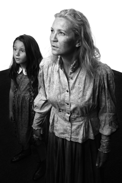 Emma Gordon and Joan Allen in a poster image for 'The Wheel' by Zinnie Harris, set for American premiere at Steppenwolf in 2013.