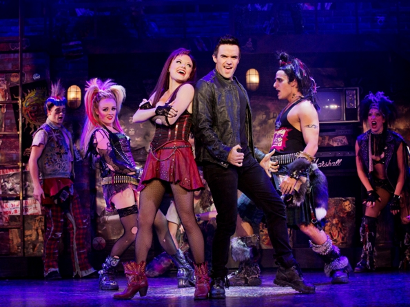 Erica Peck, Ruby Lewis, Brian Justin Crum and Jared Zirilli in 'We Will Rock You,' featuring Queen's greatest hits, comes to Broadway in Chicago after 12 years in the UK. (Paul Kolnick)