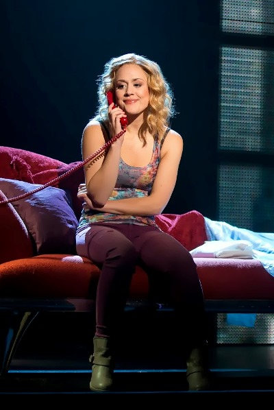 Molly (Katie Postotnik) in a happy moment in 'Ghost The Musical' presented by Broadway in Chicago at the Oriental Theatre. (Joan Marcus)