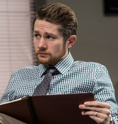 The child abuse case supervisor (Erik Hellman) takes a pragmatic view of the department's overwhelming work load in 'Luna Gale.' (Liz Lauren)