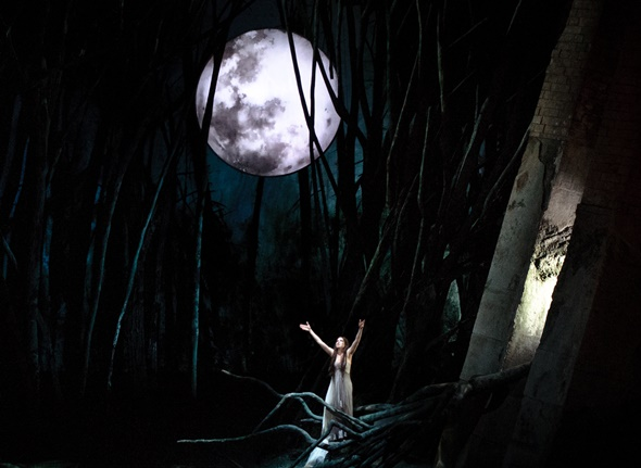 Ana María Martínez sings Rusalka's 'Song to the Moon' in Act I. (Todd Rosenberg)