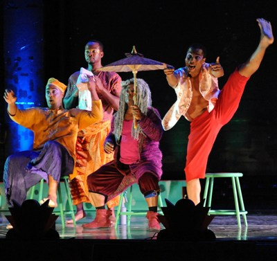Choreography by director Ken Roht enlivens the island scene in Duke Ellington's 'Queenie Pie' at Chicago Opera Theater. (Liz Lauren)