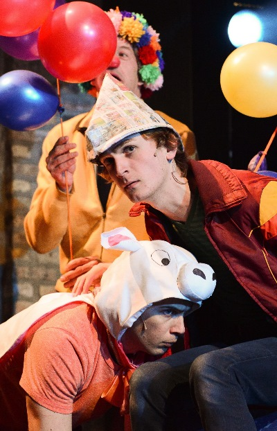 Jack (Aubrey McGrath) just wants to keep his cow Milky White (Will Skrip). (Photo by Evan Hanover)