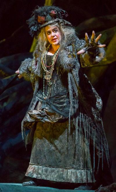 Jill Grove portrays the witch Ježibaba. (Todd Rosenberg)