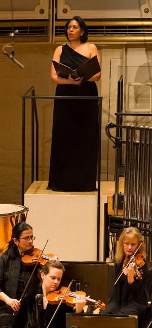 Ora Jones narrates Ennio Morricone's 'Voices From the Silence.' (Todd Rosenberg)