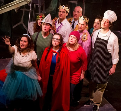 The fairytale characters band together when danger threatens them all in Sondheim's musical 'Into the Woods.' (Matthew Gregory Hollis)