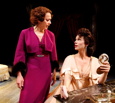 The intrusive stage mothering of Rose (Louise Pitre) has prompted Louise - now Gypsy Rose Lee - to bar her from the backstage. CST 'Gypsy' (Liz Lauren)
