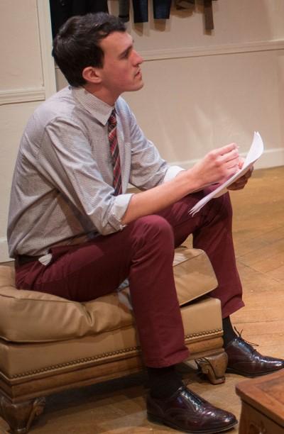 Douglas (Carl Lindberg) already has seen some professional success as a writer in 'Seminar.' (Dean LaPrairie)