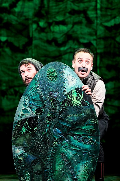 Luke Smith, left, as Smee with John Sanders as Black Stache in 'Peter and the Starcatcher.' (Broadway in Chicago)