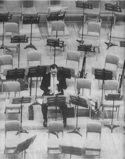 Ray Still, rehearsing alone onstage at the Chicago Symphony's Orchestra Hall (RayStillOboist on Facebook)