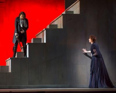 "Sesto (Joyce DiDonato) wreaks havoc in Rome for Vitellia (Amanda Majeski) in ""La Clemenza di Tito""  (© Todd Rosenberg)"