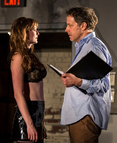 Vanda (Amanda Drinkall) doesn't need the script, which -- among other things -- turns Thomas' (Rufus Collins) head. (Liz Lauren)
