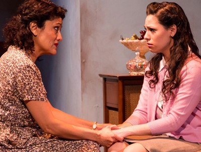 Beatrice (Sandra Marquez, left) adivses Catherine (Ayssette Muñoz) that it's time to behave like a grown woman. (Joel Maisonet)