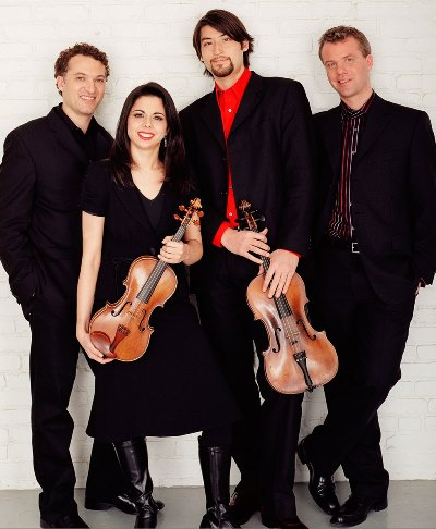 The Pacifica Quartet in ensemble in residence at the University of Chicago.