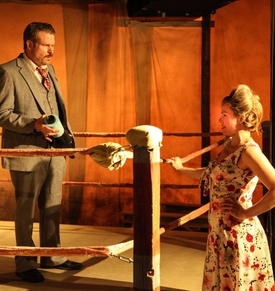 Boss Theo (Jeff Christian) and girlfriend Lily (Carolyn Klein) always seem to be in the ring. (Emily Schwartz)
