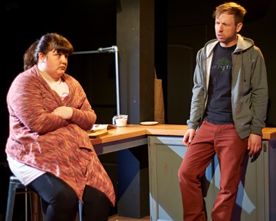 Outcasts Anna (Caitlin Looney) and Terry (Shane Kenyon) find common ground. (Lee Miller)