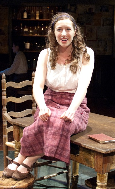 Emily Glick is the romantically inclined Mary Boyle in 'Juno' at TimeLine Theatre. (Lara Goetsch)