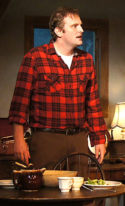 Jimmy (Joseph Wiens) rants constantly at an unjust world in 'Look Back in Anger.' (Jan Ellen Graves)