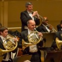 The Chicago Symphony's horn section stands at the finale of Mahler's First Symphony. June 2014 (© Todd Rosenberg)