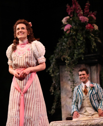 Kelsey Brennan and Marcus Truschinski are the giddy lovers in Oscar Wilde's 'The Importance of Being Earnest' at American Players Theatre. (Carissa Dixon)