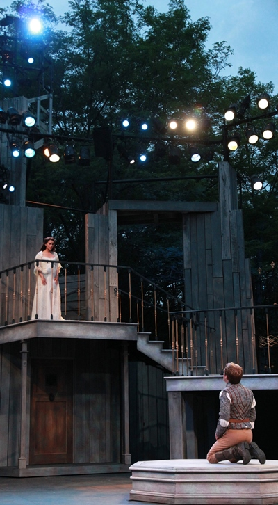 Love's light is in the east for Romeo (Christopher Sheard) and Juliet (Melisa Pereyra) is the sun. (Carissa Dixon)