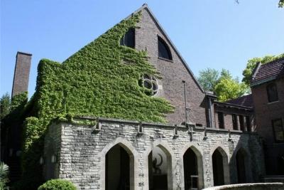 Glencoe Union Church, site for the play 'Doubt' by John Patrick Shanley.