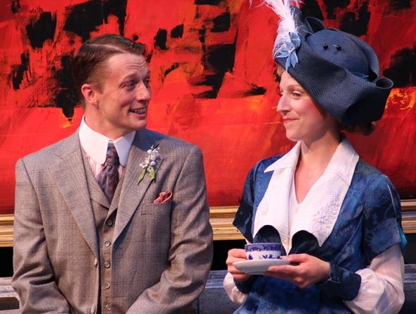 John, aka Earnest (Matt Schwader), is smitten by Gwendolen (Cristina Panfilio). (Carissa Dixon)