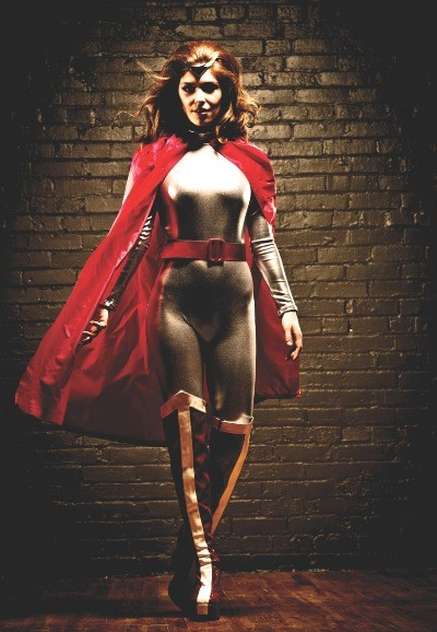 Fatale, the cyborg, as envisioned here by Lifeline, is a starring character in 'Soon I Will Be Invincible,' a world premiere musical based on Austin Grossman's novel.