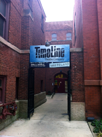 TimeLine Theatre entrance on Wellington Avenue