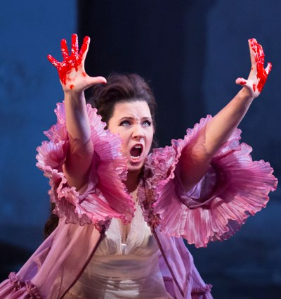 Marina Rebeka as Donna Anna in 'Don Giovanni' at the Lyric Opera of Chicago, new production by Robert Falls. (Todd Rosenberg)