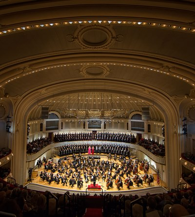Bird's eye view of the Chicago Symphony's Beethoven Ninth at Orchestra Hall. (Todd Rosenberg)