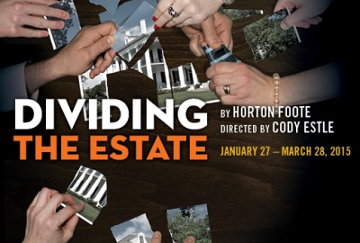 Poster art for the Raven Theatre production of Horton Foote's 'Dividing the Estate.'