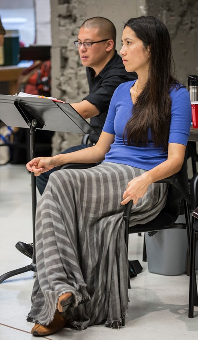 'The World of Extreme Happiness' by Frances Ya-Chu Cowhig (foreground) will be directed by Eric Ting (rear).