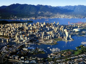 The densely populated city of Vancouver is closed in by mountains. There's no place to go but up.