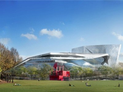 Architectural rendering of the Paris Philharmonie, scheduled to open in January 2015. (philharmoniedeparis.fr)
