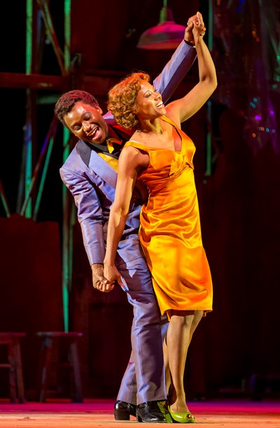 A little 'happy dust' keeps Bess (Adina Aaron) in the thrall of Sportin' Life (Jermaine Smith). (Todd Rosenberg)
