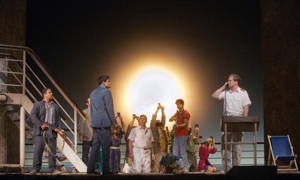 Chaos reigns aboard the Achille Lauro as the terrorists take control. Metropolitan Opera 2014 (Ken Howard)