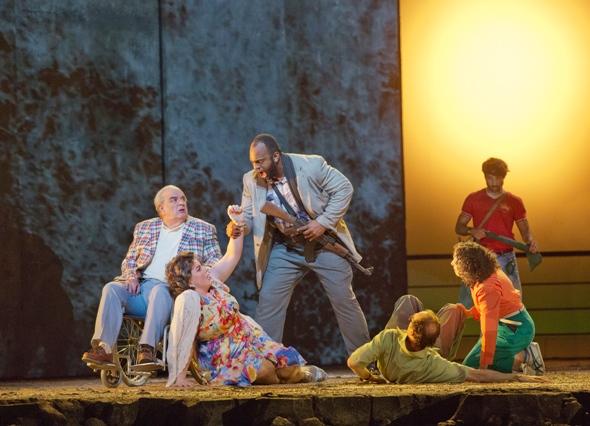 Mayhem aboard the Achille Lauro, a scene from 'The Death of Klinghoffer' at the Metropolitan Opera 2014 (Ken Howard)