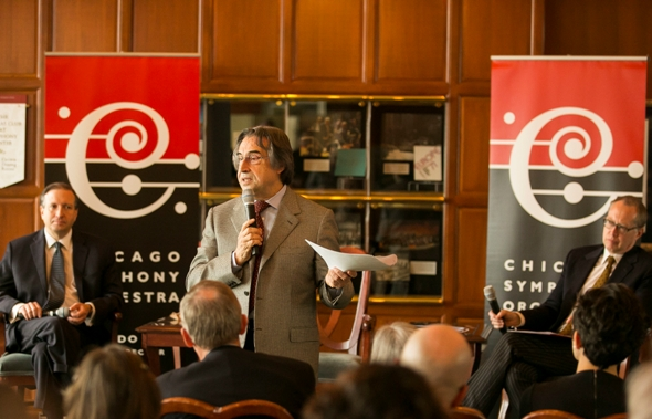 Riccardo Muti shared a wish list for the Chicago Symphony Orchestra that included cutting-edge media projects and touring to newly open Cuba. (Todd Rosenberg)