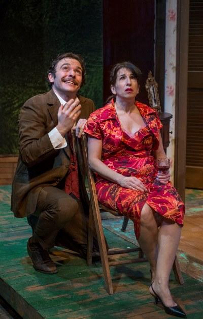 Their love is written in the stars, Alvaro (Nic Grelli) assures Serafina (Eileen Niccolai). (Michael Brosilow)