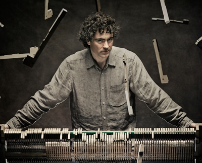 This isn't Beethoven destroying another piano, but pianist Paul Lewis deep into the composer's music. (Joseph Molina)