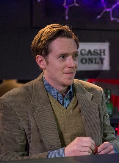 When cute newbie Mark (Steve Haggard) walks into the bar, all eyes are on him. (Michael Brosilow)