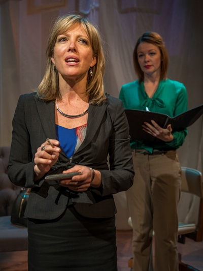 Defiant and anxious, Julianna (Lia D. Mortensen) is not an easy patient for Dr. Teller (Nina O'Keefe).
