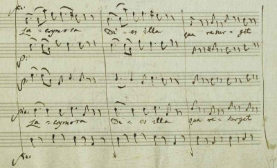 Lacrymosa detail from the Requiem manuscript, showing some of the last notes in Mozart's hand.(Austrian National Library via Wiki Commons)