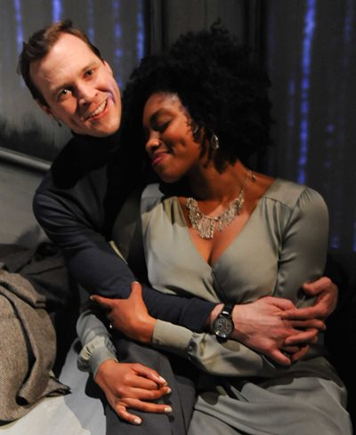 Matthew Keffer and Adrienne Walker in the duet 'Happiness.' (Brandon Dahlquist)