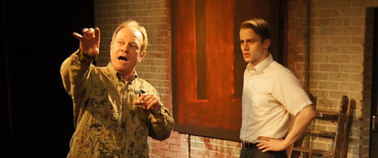 Painter Mark Rothko (Brian Parry, left) wants young assistant Ken (Aaron Kirby) to grasp the power in his art. (Jan Ellen Graves)