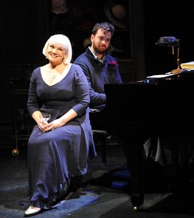 Pianist Austin Cook accompanies Rebecca Finnegan's performance of 'In Buddy's Eyes.' (Brandon Dahlquist)
