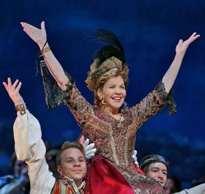 "Renée Fleming as Hanna Glawari in Lehár's ""The Merry Widow,"" a Metropolitan Opera production coming to the Chicago Lyric Opera in November 2015. (Ken Howard/Metropolitan Opera)"