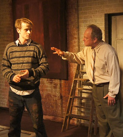 Rothko (Brian Parry) paints a picture of dismay for his assistant Ken (Aaron Kirby). (Jan Ellen Graves)
